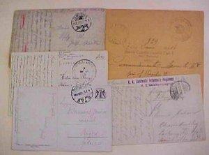 HUNGARY   1915-1917 ESECONVULI,TRENCSENTE,TRMESVAR,KARCZAO 4 CARDS/1 COVER