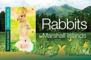 2020/12 - MARSHALL ISLANDS - RABBITS     2V  complet set    MNH ** T