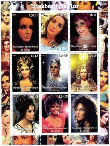 Elizabeth Taylor Actress Sheet Perforated Mint (NH)