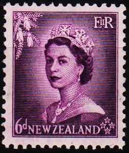 New Zealand. 1953 6d S.G.729 Mounted Mint
