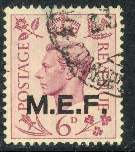 GREAT BRITAIN MIDDLE EAST FORCES 1942-43 KGVI 6d London Printing Sc 6 VFU