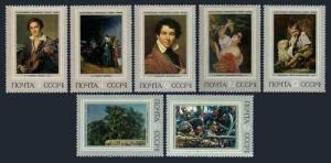 Russia 4074-4080,MNH.Michel 4115-4121. Russian paintings 1973.Portraits.