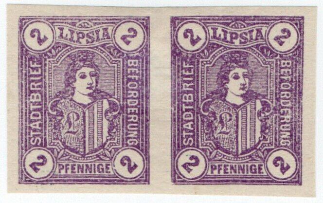 (I.B-CK) Germany Local Post : Leipzig 2pf (Lipsia) proof