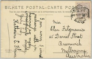 58220 -  PORTUGAL  - POSTAL HISTORY:  POSTCARD to  Australia  - 1909