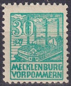 Mecklenburg-Vorpommern Mi#39ZA MNH  Z211