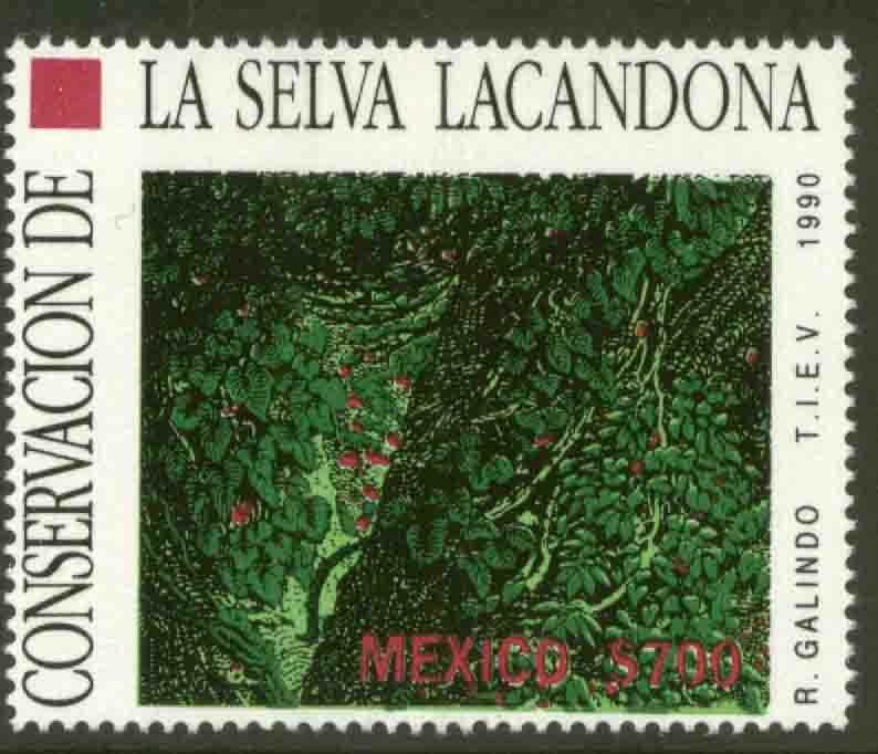 MEXICO 1655 Protection of Rain Forests MNH