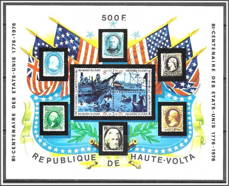 Upper Volta #358 Stamps On Stamps Souvenir Sheet CTO