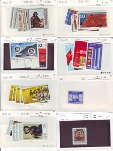 Z652 JLstamps germany DDR mh with sets in sales cards, all checked & sound
