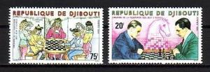 Djibouti, Scott cat. 513-514. Chess Federation issue. ^
