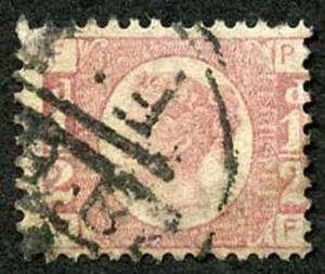 SG48 1/2d Bantam (PF) Plate 14 Cancelled with CDS Cat 30 Pounds