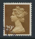GB Machin 29p  SG X979  Scott MH138 Used with FDC cancel  please read details