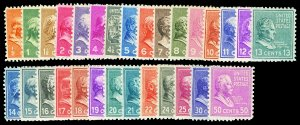 Scott 803-831 1938 Presidential Issue Mint Mostly NH Cat $32.85