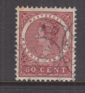 CURACAO, 1904 Wilhelmina 50c. Red Brown, used.