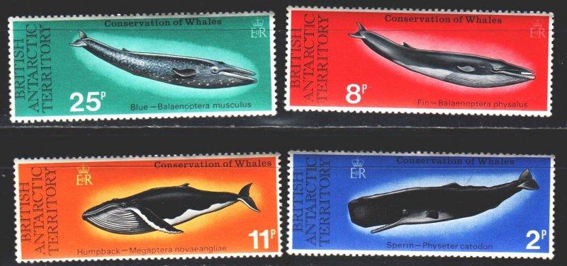 British Antarctic Territory (BAT). 1977. 64-67. Whales, fauna. MNH.