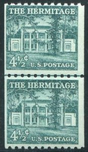 HERRICKSTAMP UNITED STATES Sc.# 1059 Stamp Line Pair