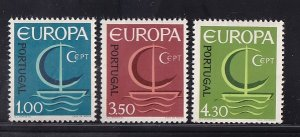 Portugal  #980-982   MNH  1966  Europa