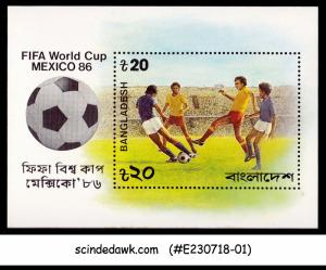 BANGLADESH - 1986 FIFA WORLD CUP FOOTBALL MEXICO MIN/SHT MNH