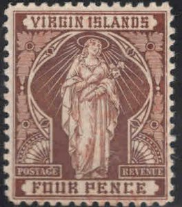 Virgin Islands  Scott 24 MH* Saint Ursula stamp