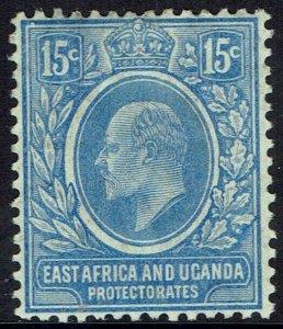 EAST AFRICA & UGANDA 1907 KEVII 15C MNH **