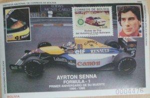 RO) 1995 BOLIVIA, AYRTON SENNA FORMULA 1, BRAZILIAN SPEED AUTOMOTIVE PILOT, WORL
