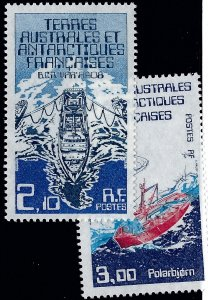 FSAT Beautiful Antarctic SC #123-124 F-VF MNH..Limited and Popular!