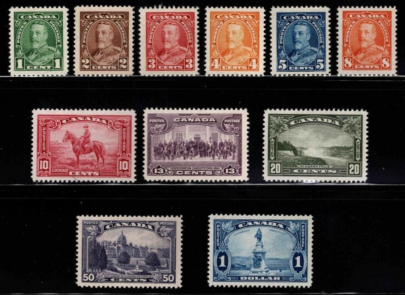 CANADA Scott 217-227 MNH** 1935 KGV pictorial set CV $200