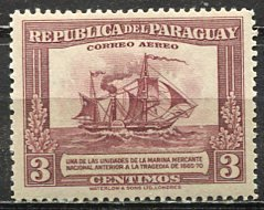 Paraguay; 1944: Sc. # C136: *+/MLH Single Stamp