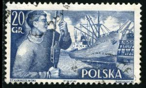 POLAND - SC #721 - Used - 1956 - Item Poland038