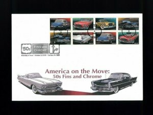 2008 Carlisle Pennsylvania Classic Cars 50's Fins & Chrome First Day Cover