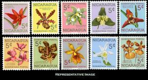 Nicaragua Scott RA66-RA75 Mint never hinged.