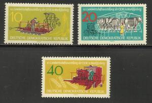 Germany DDR 1962 Scott# 611-13 MNH