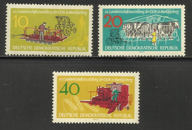 Germany DDR 1962 Scott# 611-13 MNH
