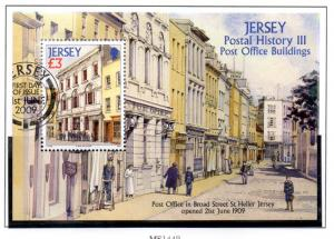Jersey Sc 1381 2009 £3 Broad St PO stamp sheet used
