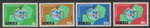 ZAMBIA SG306/9 1982 75th ANNIV OF THE ROTARY MOVEMENT MNH