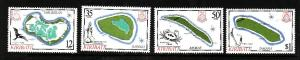 Kiribati-Sc#456-9-Unused NH set-Maps-Birds-1985-