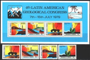 Trinidad and Tobago. 1979. 391-94, bl27. Geological Congress. MNH.