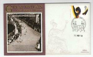 GB OUR ISLANDS HERITAGE LONDON 1908 MH QUEEN HOSTS THE 1908 GAMES BENHAM COVER