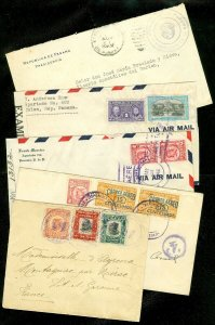 EDW1949SELL : PANAMA Collection of 5 older covers including Better usages.