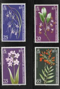 New Hebrides (French) Scott 190-193 MNH** Flower stamp set
