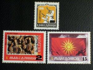 Macedonia Scott #21-23 mnh