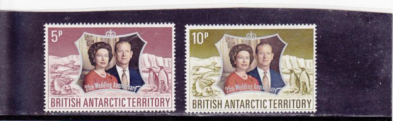 British Antarctic Territory  Scott#  43-4  MNH