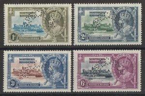 NORTHERN RHODESIA 1935 KGV Silver Jubilee set 1d-6d, perf SPECIMEN. MNH **.