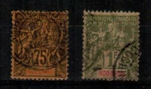 Indochina Scott 19-20 Used (Catalog Value $53.00) [TC843]