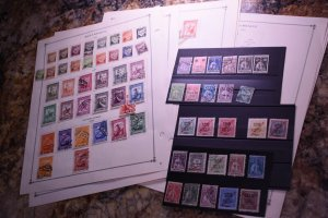 MOZAMBIQUE  OLD COLLECTION ON ALBUM PAGES   z125 SUPERIORSTAMPS