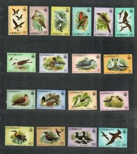 Kiribati Sc#384-399 M/NH/VF, Birds, Cv. $28