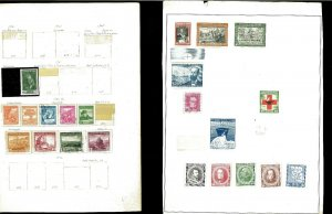Chile 1939-1972 M & U Hinged & in Mounts on a Mix of Remaindered Pages.