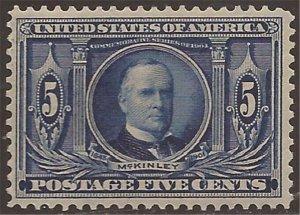 US Stamp - 1904 5c Louisiana Purchase - MLH Stamp - Scott #326