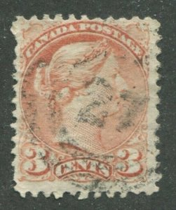 CANADA #37 USED SMALL QUEEN 2-RING NUMERAL CANCEL 27