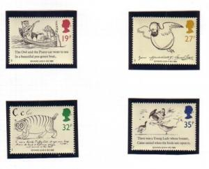 Great Britain Sc 1226-9 1988 Lear Drawings stamp set mint NH