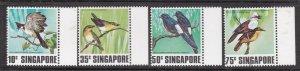 SINGAPORE ^^^^sc#295-298   MNH set ( BIRDS) $$@ lar 1594singa